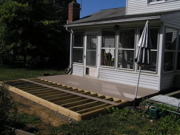 Ground level deck vs patio