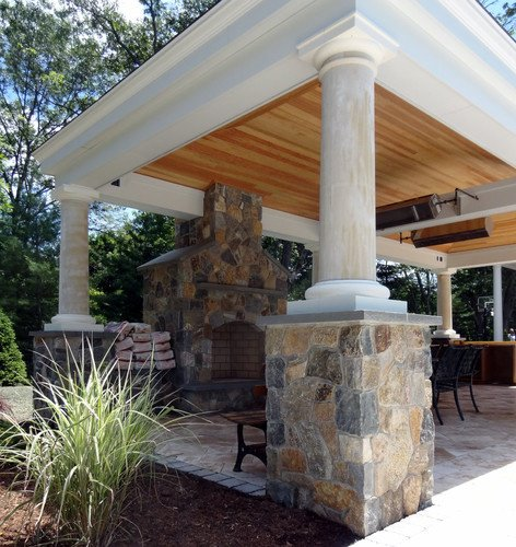 Houzz outdoor fireplace