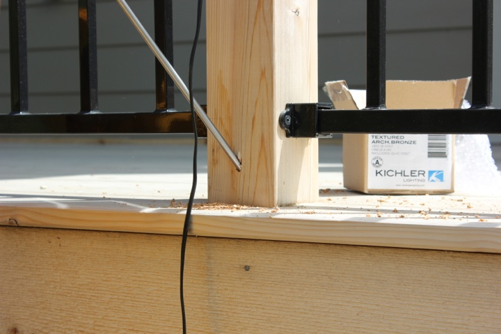 How to install deck post lights
