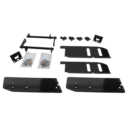 Hydraulic deck plate conversion