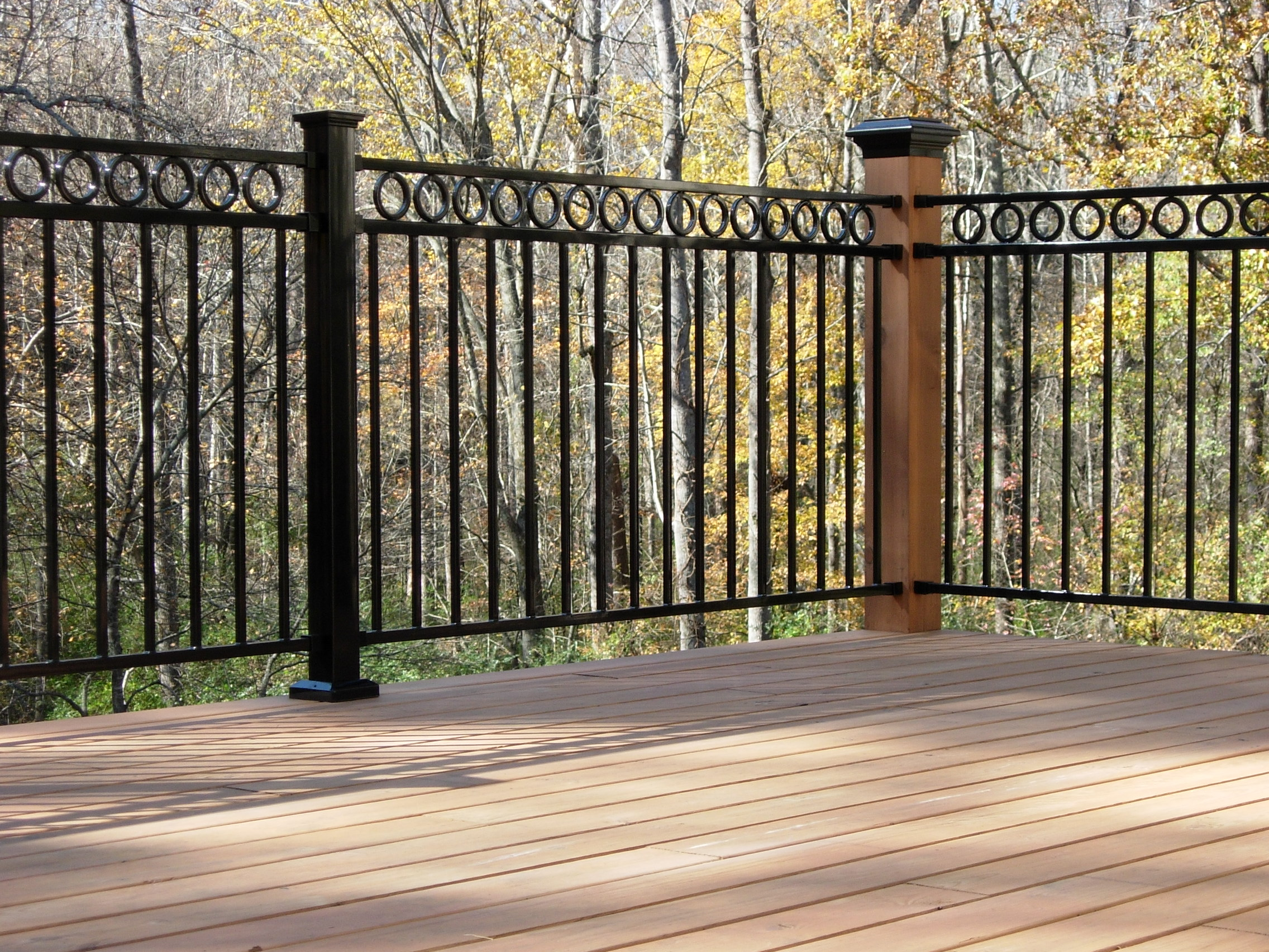 Iron deck railing images