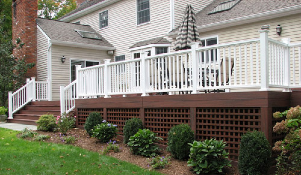 Lattice for deck skirting