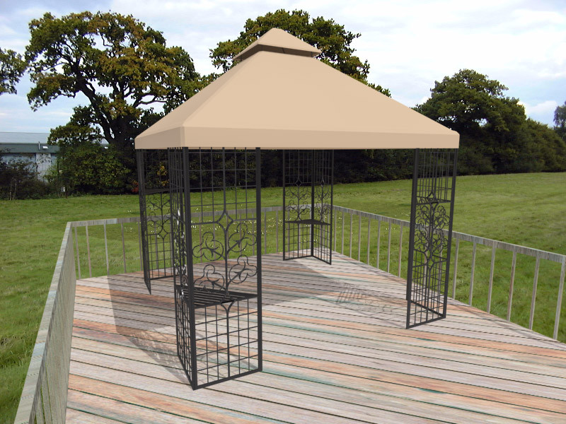 Outdoor deck gazebo