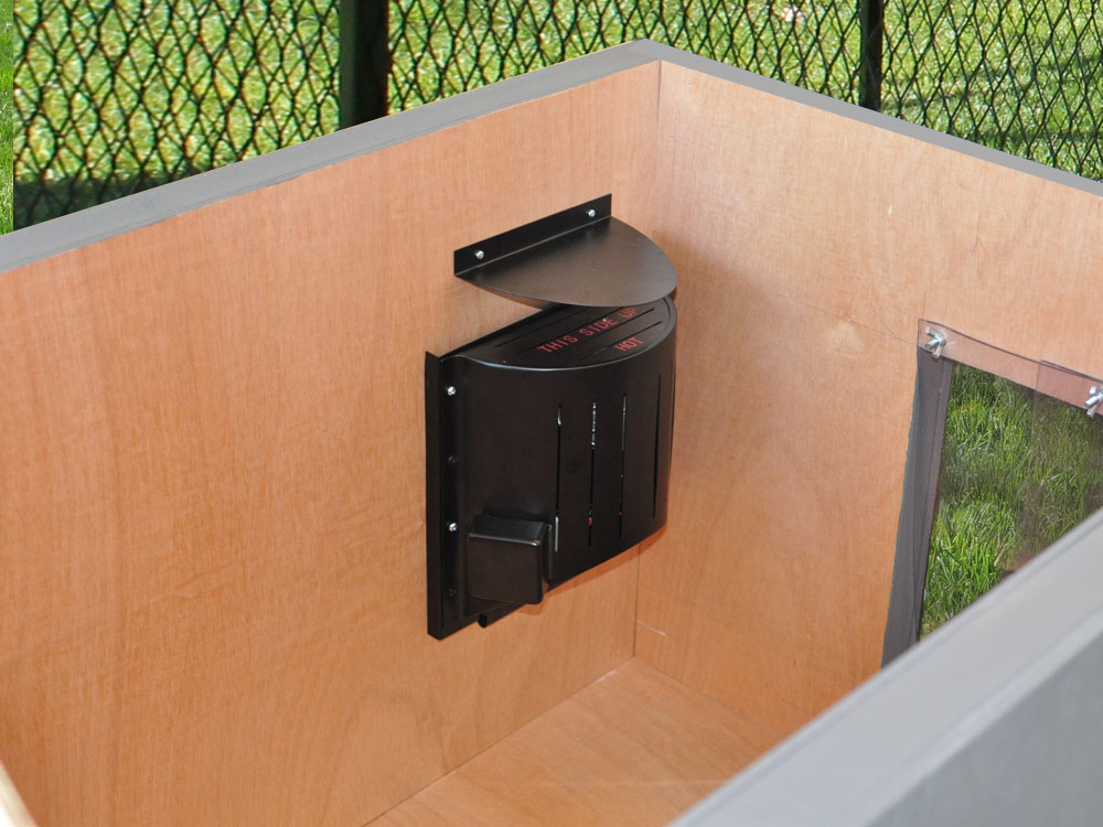 Outdoor kennel heaters
