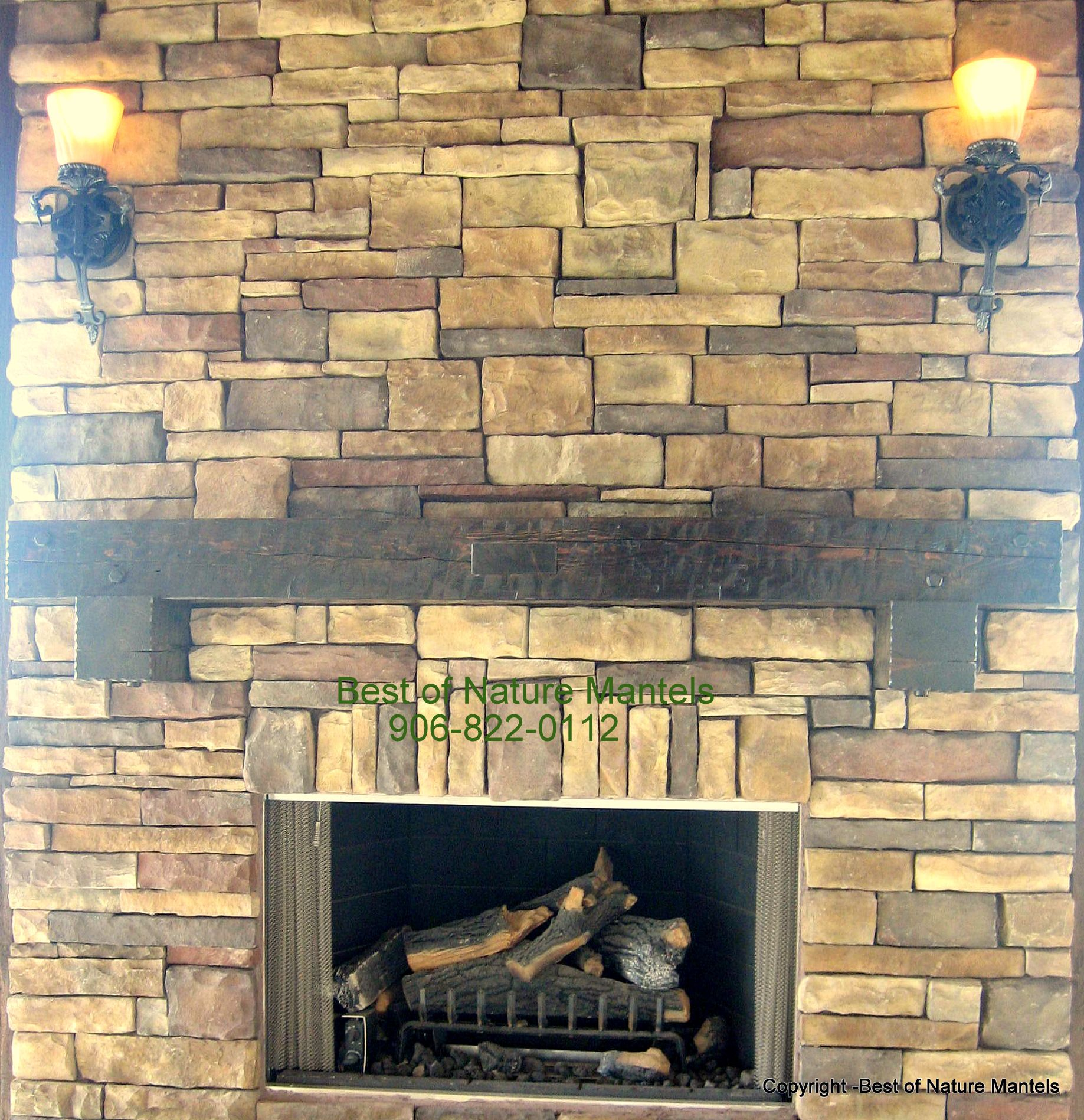 Outside fireplace mantels