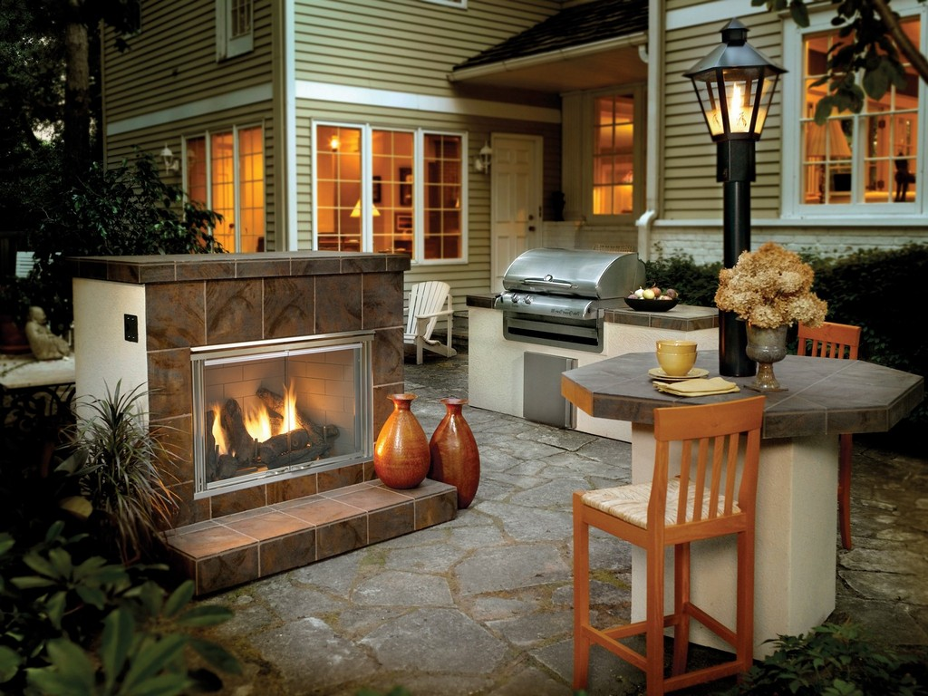 outside fireplace cost deck design and ideas