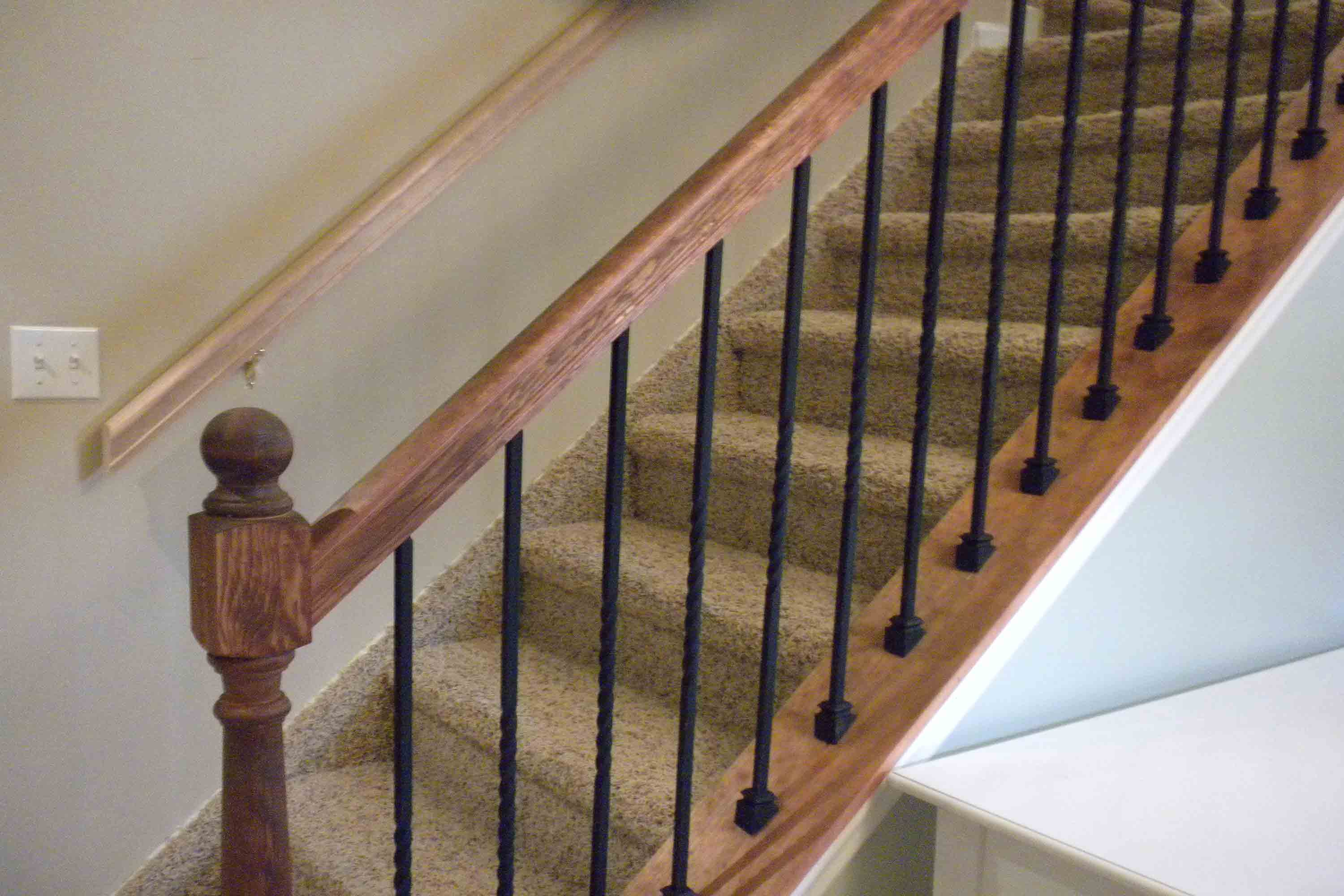 Painting deck balusters
