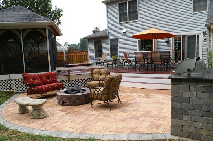 Pictures of deck and patio combinations