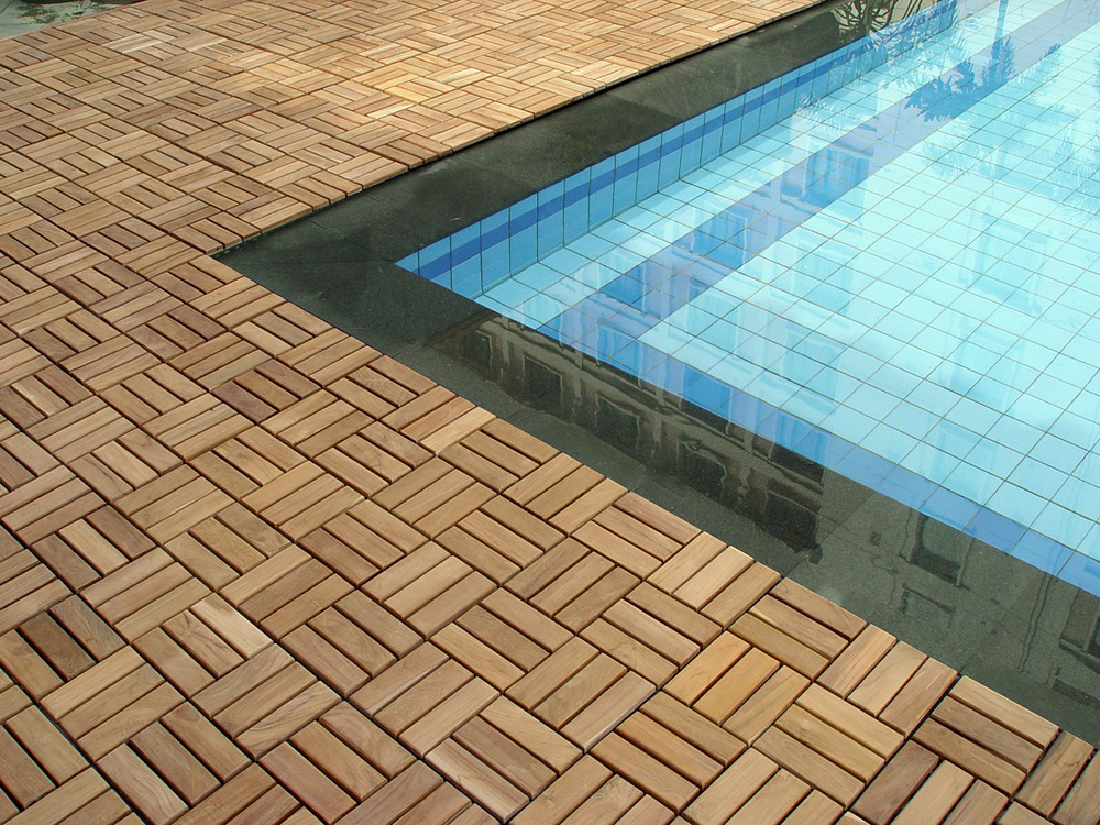 Pool deck flooring options