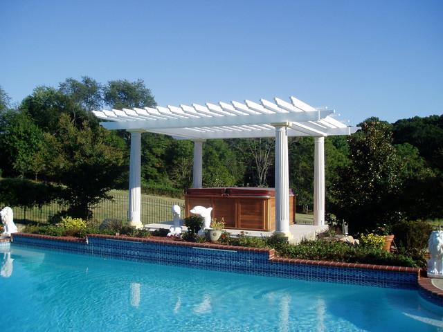 Pool deck gazebo