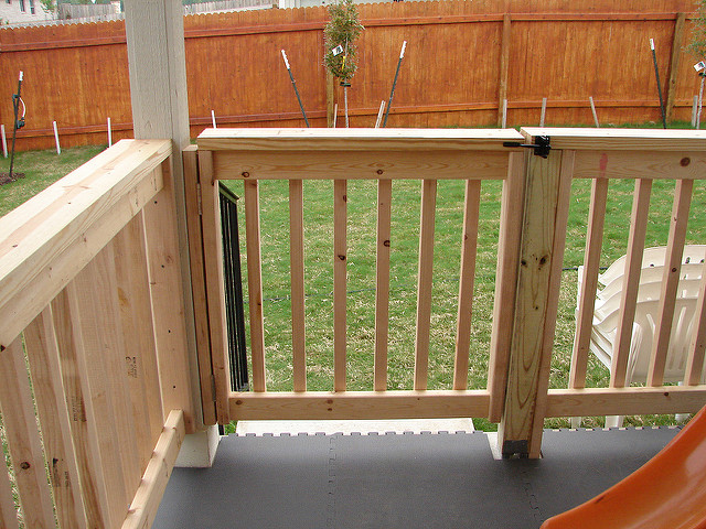Porch railing gate