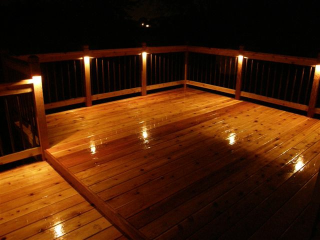 Post lights for deck