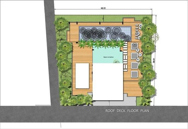 Roof deck floor plan