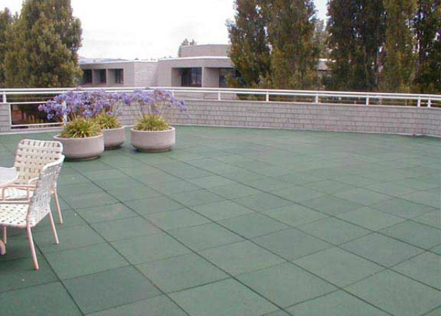 Roof deck flooring