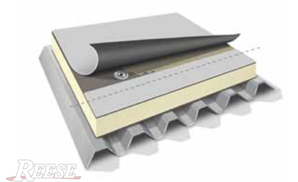 Roof deck insulation board