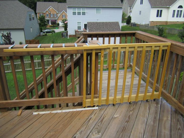 Sliding deck gate ideas