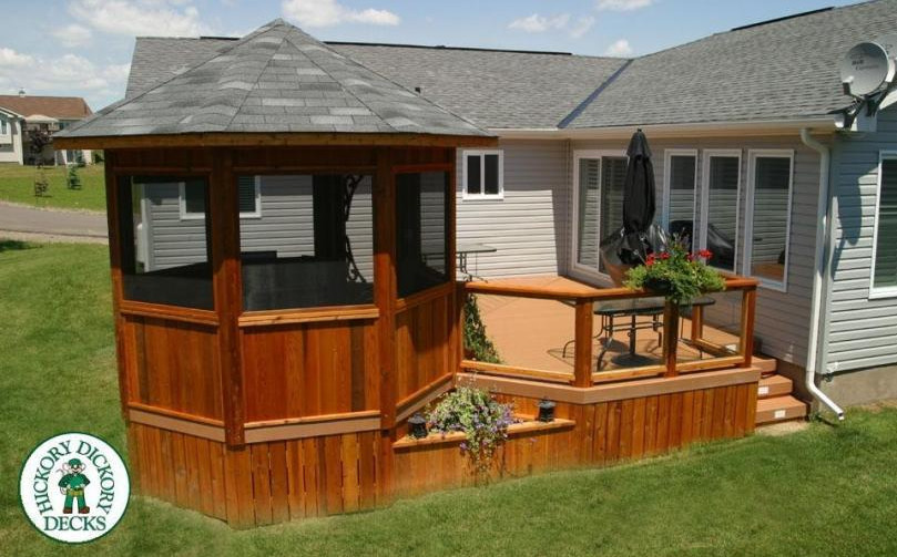 Small deck gazebo