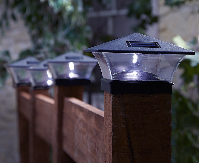 Solar deck post lights 3×3