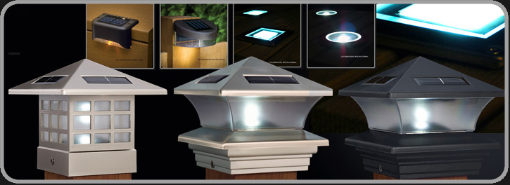 Solar deck post lights uk