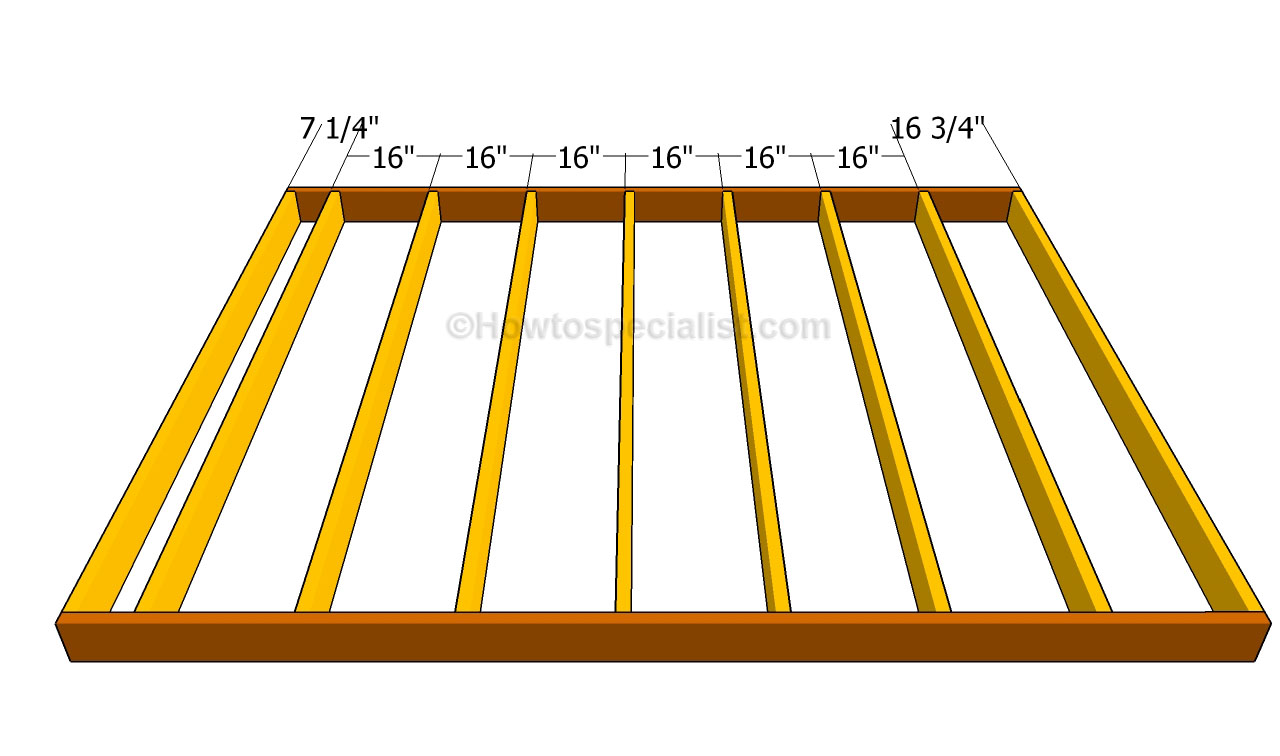Spacing of deck joists