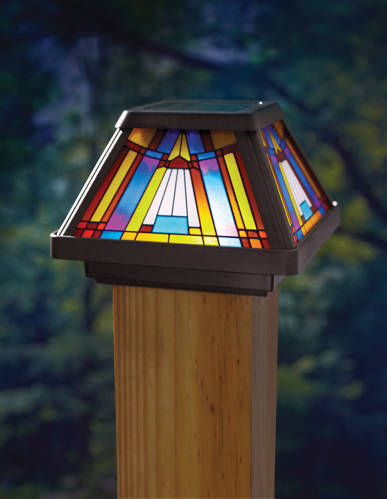 Deck solar lights post caps 66 deck design and ideas tiffany solar deck post caps stained glass deck post caps aloadofball Image collections