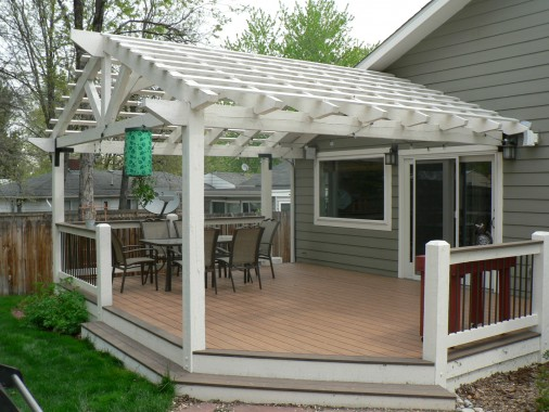 Two level deck with pergola