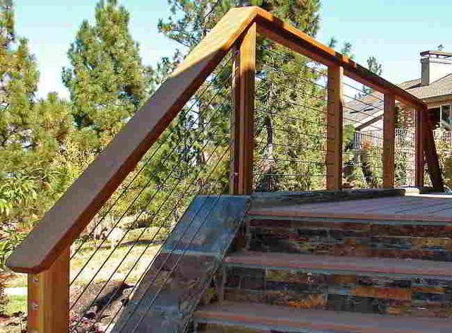 Ultra deck stair railing installation