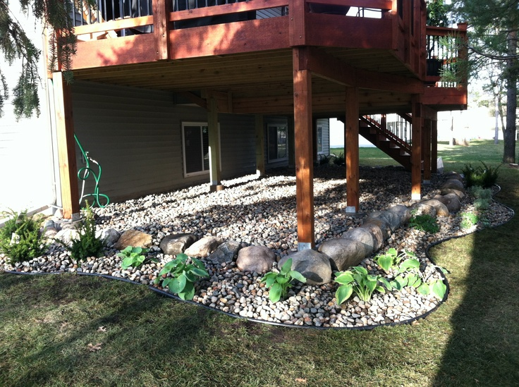 Under deck landscaping pictures