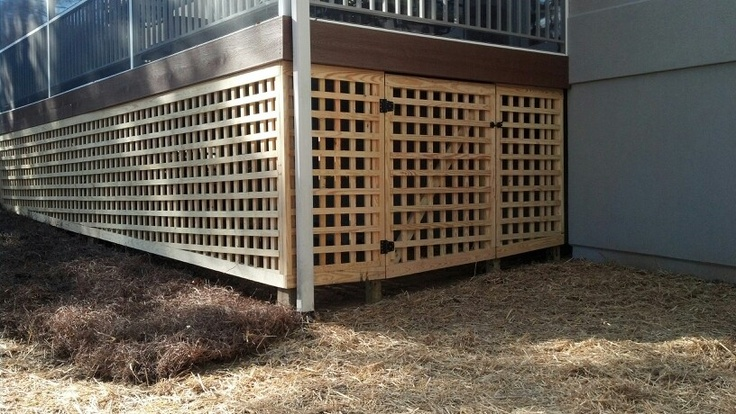Under deck lattice design