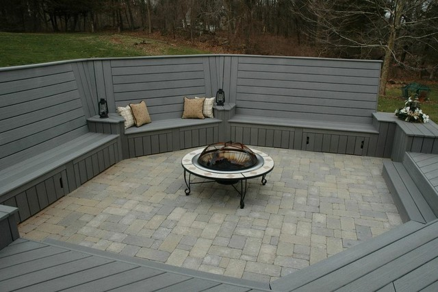 Unique deck and patio