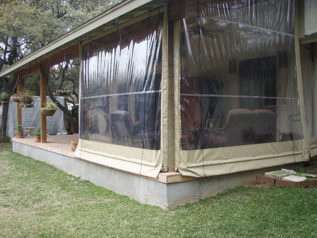 Vinyl deck enclosures