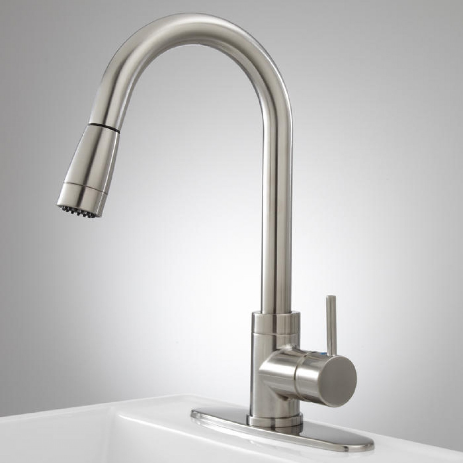What is a deck plate on a faucet