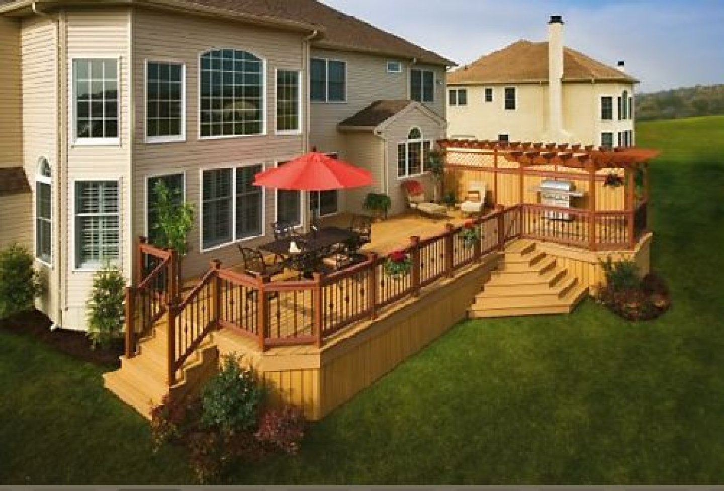 Deck wood flooring deck design and ideas deck wood treatment wood deck designs photos baanklon Images