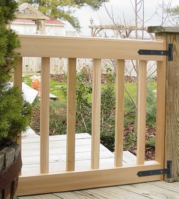 Wood deck gate designs