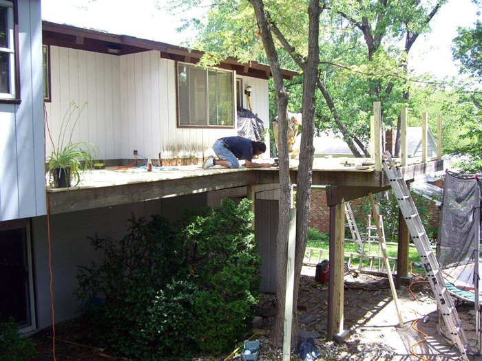 Wood deck installation cost
