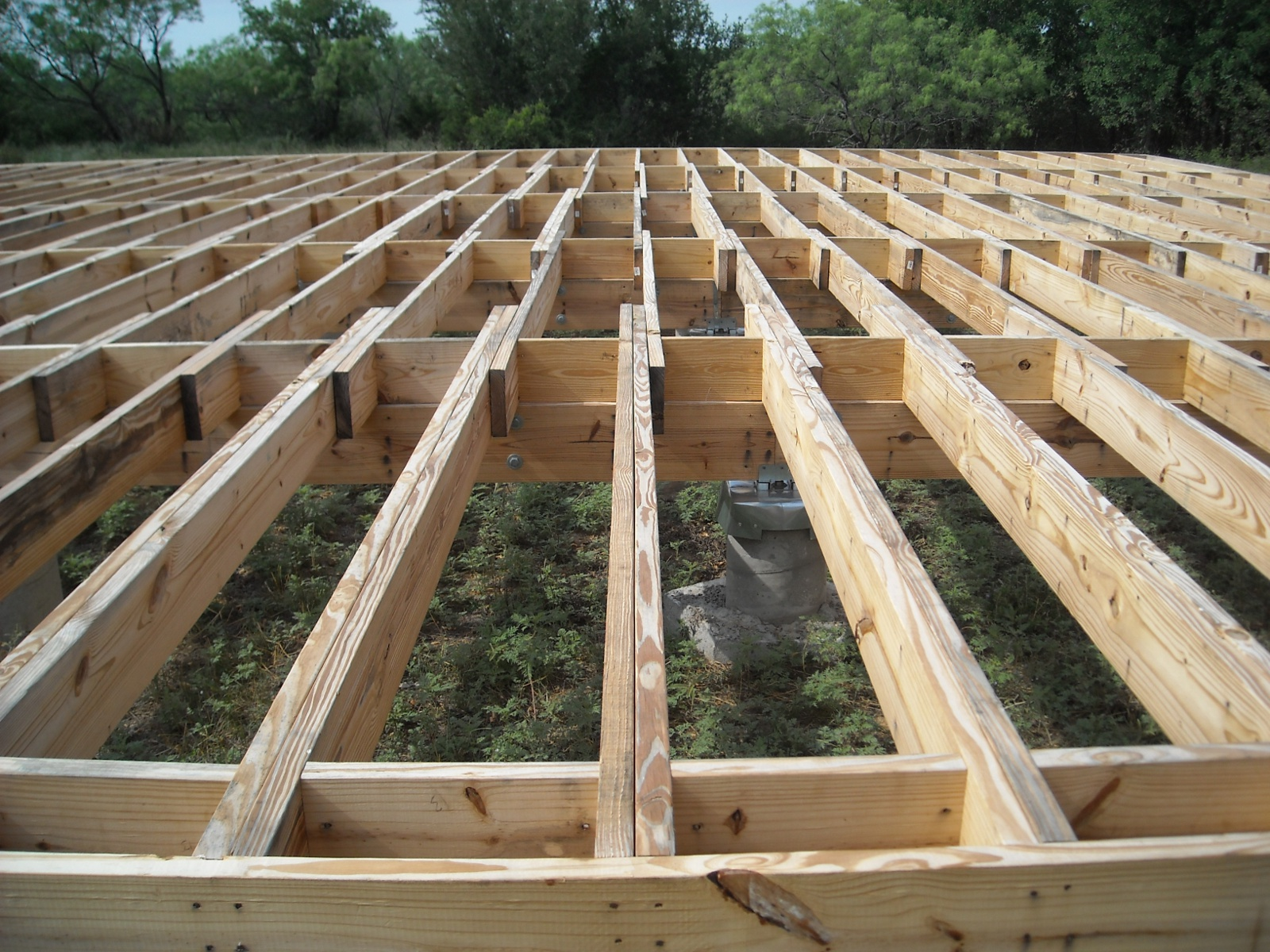 Wood deck joists