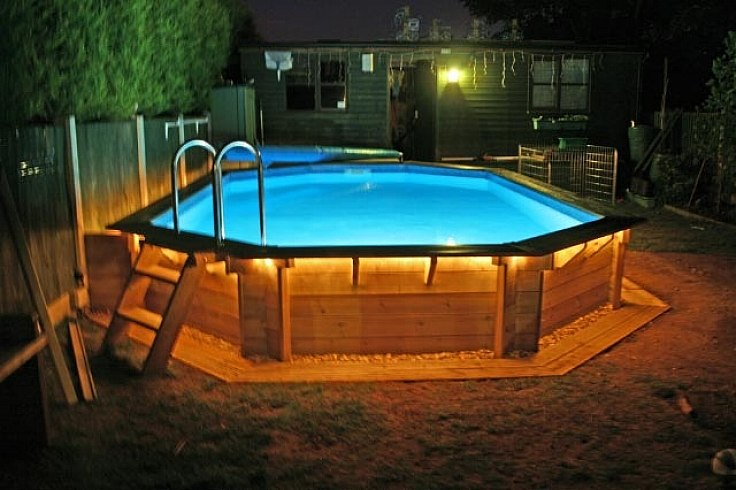Wood deck kits for above ground pools