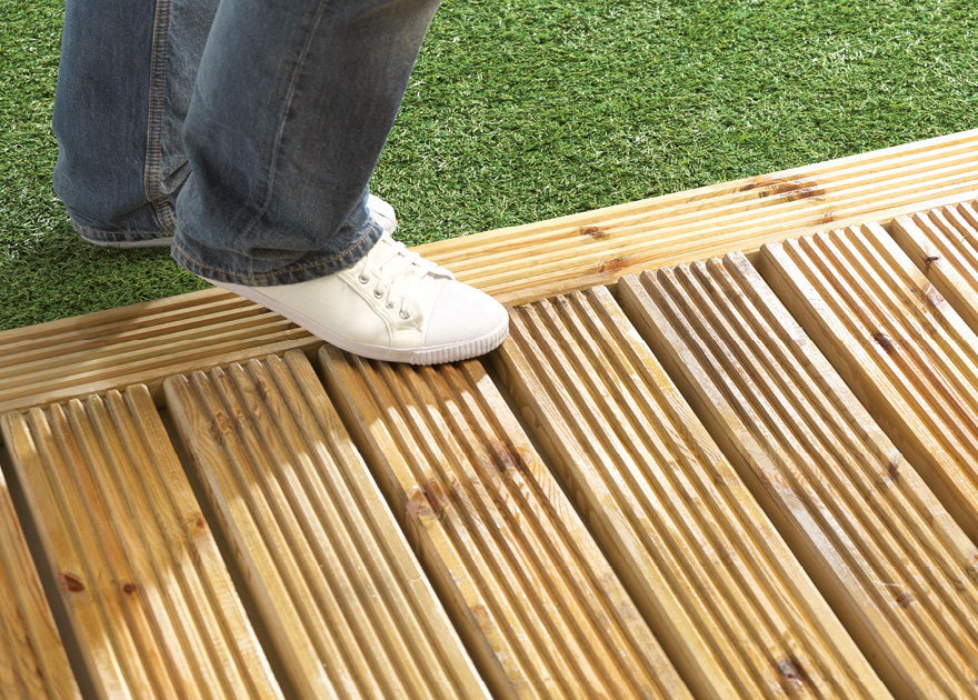 Wood deck non slip coatings