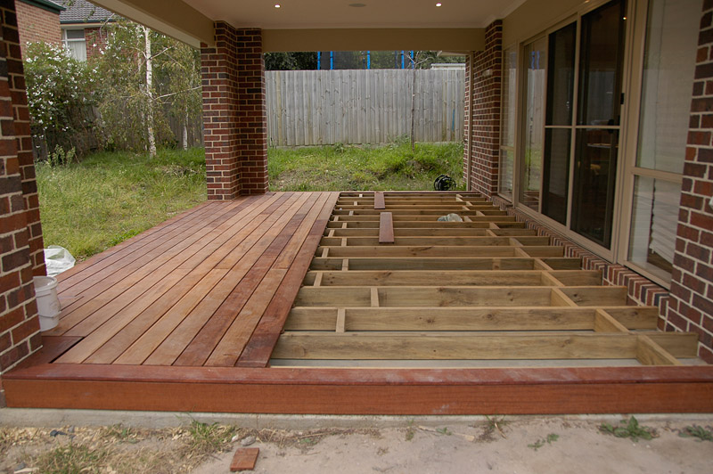 Wood deck over concrete