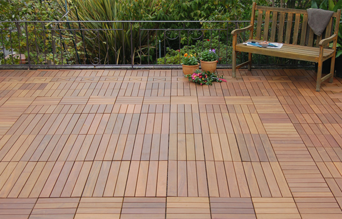 Wood deck waterproofing