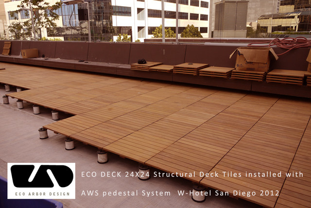 Wood tile joinable deck and patio panels