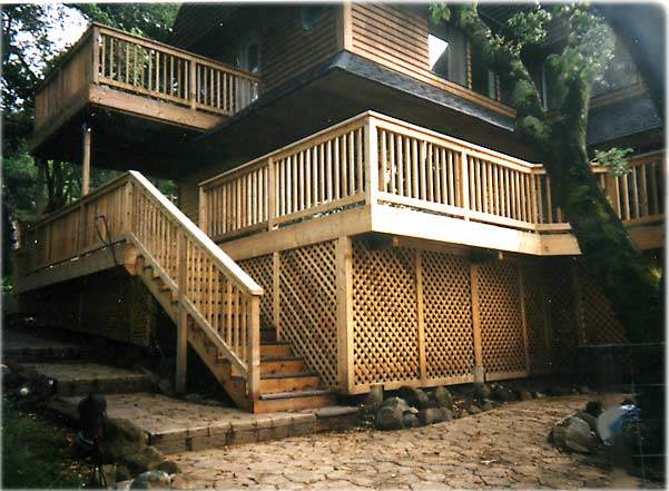 2 story deck design pictures deck design and ideas for Two story deck design pictures