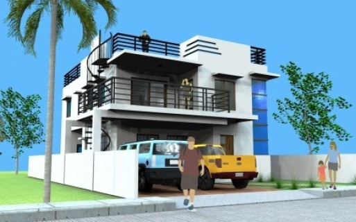 3 Storey House With Roof Deck Deck Design And Ideas