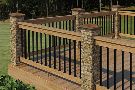 4 215 4 Deck Post Covers Deck Design And Ideas