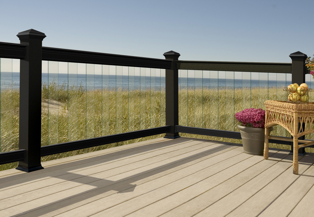 8 foot wood deck railing