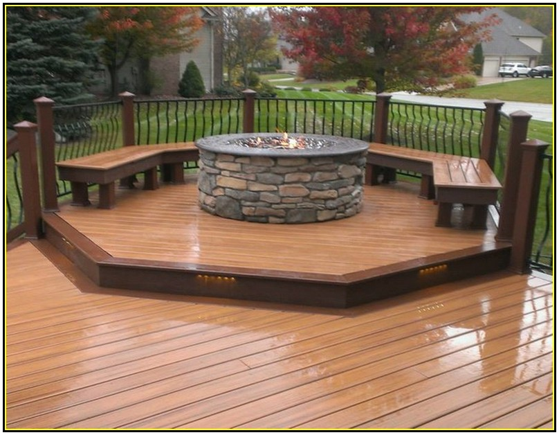 Best fire pit for deck | Deck design and Ideas