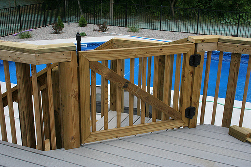building a deck gate