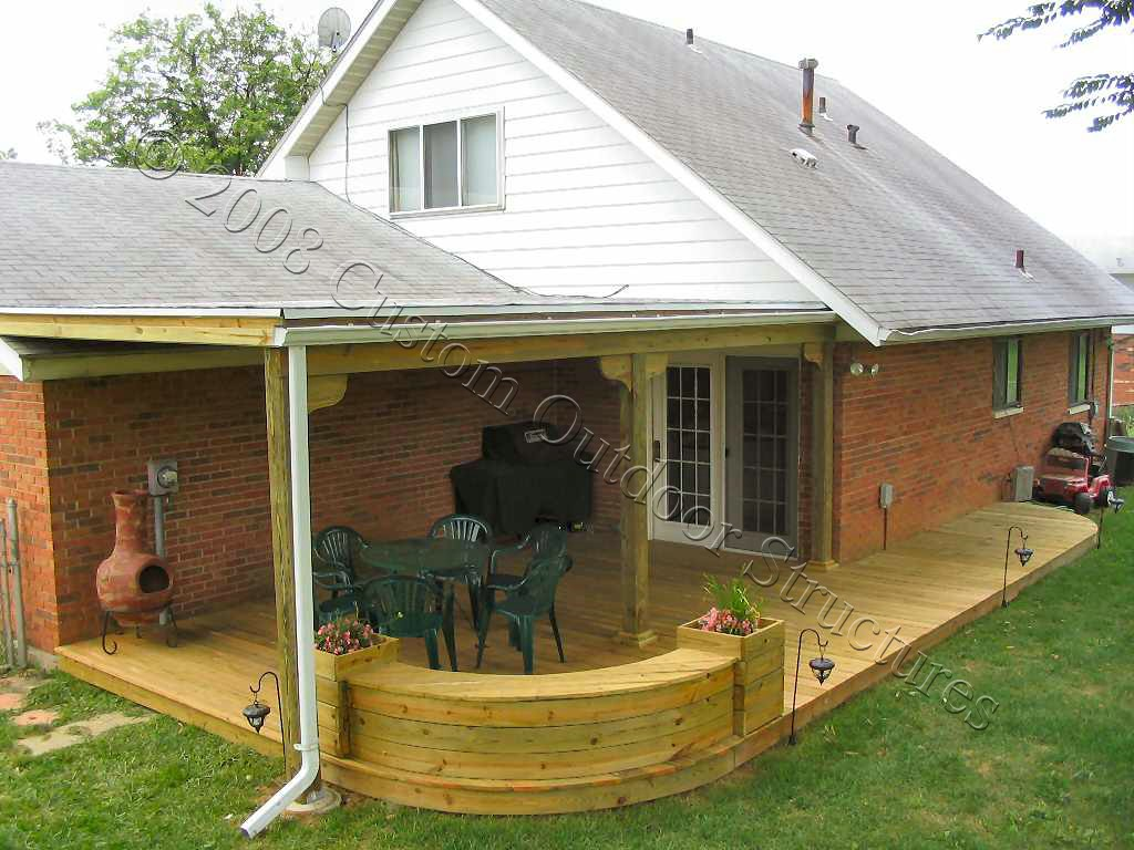 covering a deck with a roof