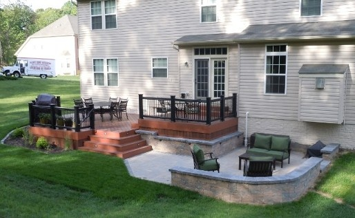 deck and patio combination ideas
