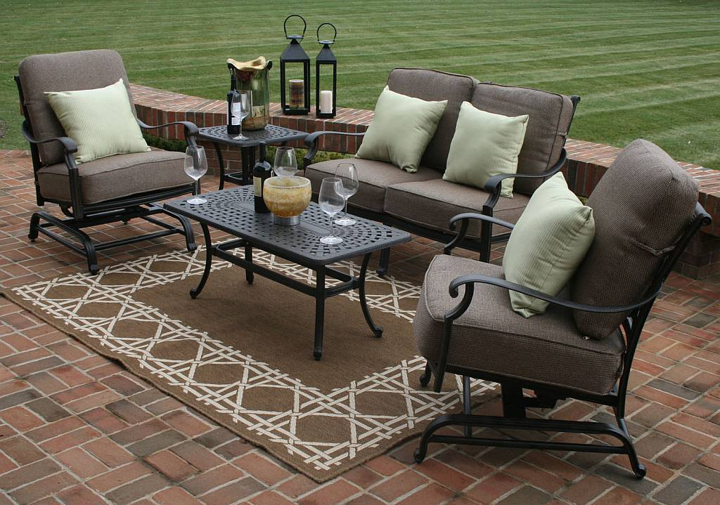 Deck and patio furniture sets deck design and ideas for Patio sets for small decks